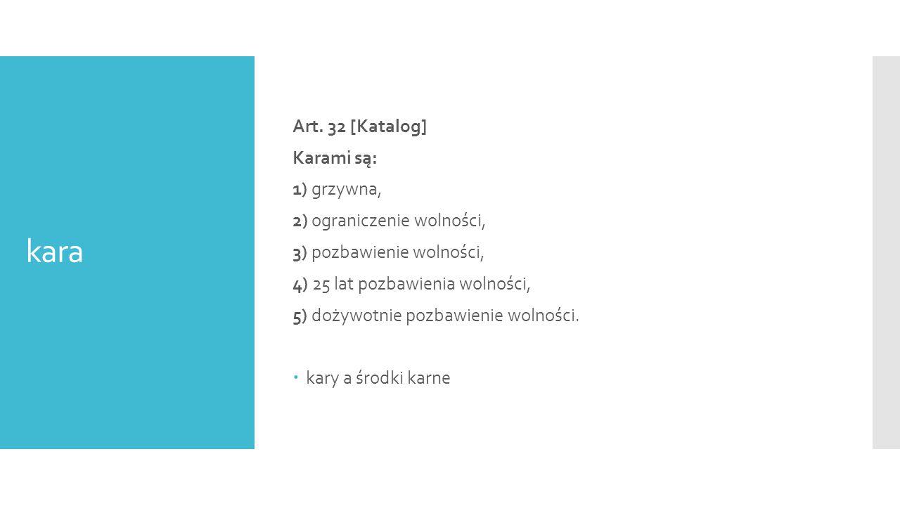 kara Art. 32 [Katalog] Karami są: 1) grzywna,
